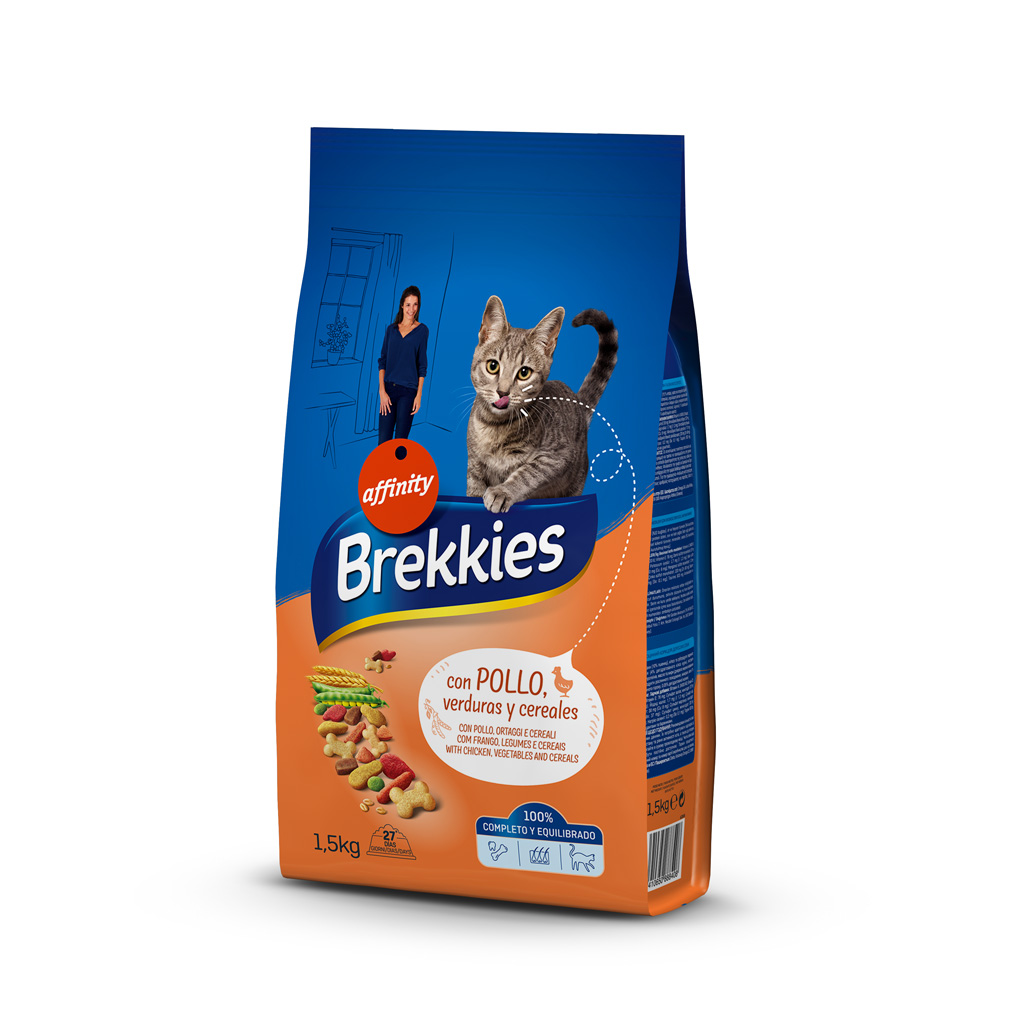 BREKKIES EXCEL CAT MIX CHICKEN 1,5 KG