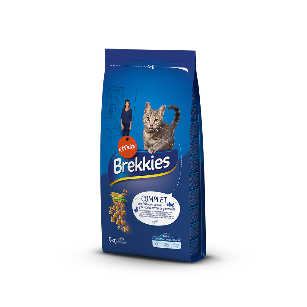 BREKKIES EXCEL CAT COMPLET 15 KG