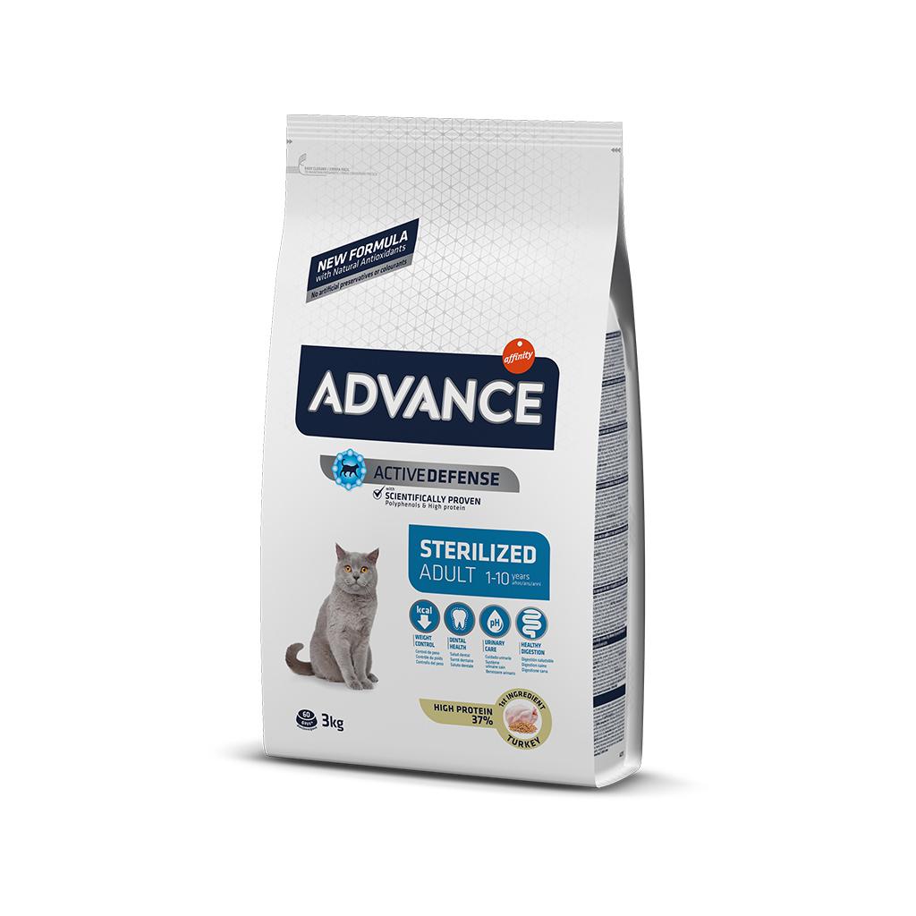 Advance Hindili Kısırlaştırılmış Yetişkin Kedi Maması  3 Kg