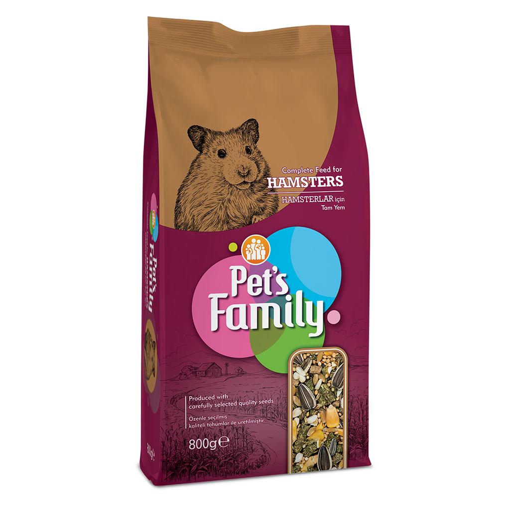 PETS FAMILY HAMSTER YEMİ 800G